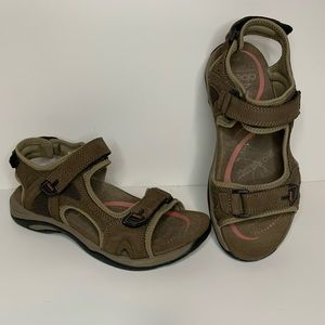 Abeo Huntington Sandals Sz 7 Brown Orthopedics
